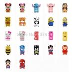3D фестиваль подарок комиксы герой мультфильм монстры животных обезьяна / пчела / кошка / мягкий силиконовый чехол 22 модель для Ipod для сенсорных 5
