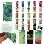 Нескольких мода ультратонких прозрачный нескольких живопись мягкие резиновые тпу назад чехол для Apple , iPod Touch 5 корпуса телефона чехол