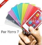 Бесплатная доставка высокое качество конфеты цвет мягкой тпу силиконовый чехол для Apple iPod Nano 7 с пакет протектор
