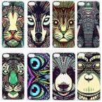 9 стиль животные тигр слон окрашенные чехол для iPod Touch 5 чехол