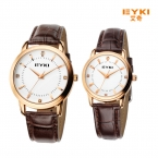 EYKI luxury brand смотреть женщины кожаный ремешок кварцевые часы мужчины моды случайные пара часы час часы reloj montre homme hombre