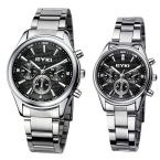 Eyki известная марка часы женщин полный нержавеющей стали три глаза мужские часы мода аналоговый кварцевые - часы мужчины montre homme часы