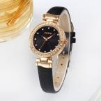 2016 Kezzi оригинальный бренд моды смотреть женщин стразы кристалл кожаный ремешок дамы кварцевые часы час часы montre femme