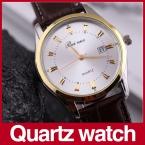 Мужчины кварцевые часы мужчины люксовый бренд кожа господа мужская человек кварцевые часы наручные часы Relogio Masculino