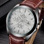 2016 мужчин мода часы люксовый бренд кварцевые часы кожаный ремешок часов Relogio Masculino мужской свободного покроя часы военные часы