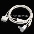 3.5 мм разъем AUX аудио USB 30 контакт. зарядное устройство синхронизации данных кабель для iPhone 4 / 4S iPod Nano / iPad 2/3
