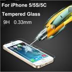 Бесплатная доставка 0.33 мм ультра тонкий HD ясно взрыв - закаленное стекло защитная крышка пленка для iPhone 5 5C 5S