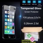 Ультра Тонкий 0.26 мм 2.5D Премиум Закаленное Стекло-Экран Протектор Для iPhone 5 5S 5c HD Закаленное Защитная Пленка   Набор Для Чистки