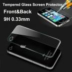 2014 новый 0.33 мм передняя и задняя премиум закаленное стекло защитная защитная пленка для iPhone 4 4S бесплатная доставка
