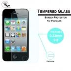 Горячие продаж Новый сильный 0.33 мм 9 H закаленное стекло защитная пленка крышка гвардии для Apple , iPhone 4 4S бесплатная доставка