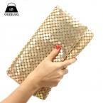 Новый 12 цвета женщины день муфты вечером алюминиевая сетка конверт лоскут сумки блестками длинная цепь сумки корейской мода