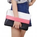 Мода сумки женщин твердые лоскутное леди день муфты новинка мягкие девушка молнии пакет мода краткий женский свободного покроя сумки