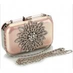 Роскошные алмаз  вечера женщин дизайнерские клатч цепи горный хрусталь свадебные сумка дамы женщины кошелек