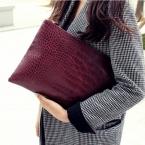 Мода крокодил зерна женщин клатч кожаный женщины конверт сумка клатч вечерняя сумочка женская муфты сумочка бесплатная доставка