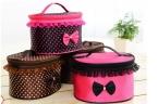 NEWBRAND Женщины Cosmetic Bag Путешествия Макияж Макияж Для Хранения Организатор Box Дело Красоты-Роза красная   точки