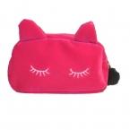 Леди косметическая сумка макияж организатор женщины косметичка чехол открытый дорожные сумки милые кошка бесплатная доставка M3AO