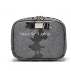 Полиуретан косметический сумки серый цвет с комикс знаки микки для женщины сцепление макияж сумки для вещей