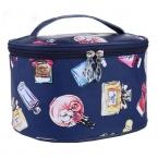 новинка марка женщины синий кожаные косметички пути на для хранения коробка мыть организатор чехол S027