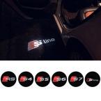 Призрак логотип лазерный проектор дверь под лужа огни для AUDI S линии A4 A3 A6 C5 Q7 Q5 A1 A5 80 TT A8 Q3 A7 R8 RS B6 B7 B8 S3 S4
