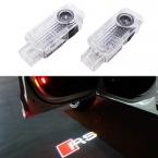 2x автомобилей двери свет призрак тень добро пожаловать свет логотип проектор эмблему для Audi A3 A4 A5 A6 A7 A8 R8 Q5 Q7 TT RS RS5 RS7