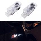 2x двери автомобиля свет дух тень приветствуется света логотип проектор эмблему для Audi A3 A4 A5 A6 A7 A8 R8 Q5 Q7 TT линия