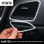 Кондиционер вентиляционные декоративная крышка отделка приборной панели воздуха на выходе из нержавеющей стали газа 3D наклейки для Audi Q3