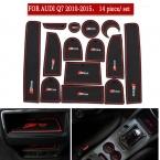 14 ШТ./КОМПЛ. Двери Groove Коврик для Audi Q7 2010- Audi S5  Резина non-slip Интерьер двери колодки/кубок коврики украшения частей