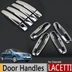 Хром Внешний Дверные Ручки Обложки Для Chevrolet Lacetti Optra Daewoo Nubira Holden Suzuki Forenza Viva Наклейки Стайлинга Автомобилей