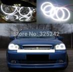 Для Chevrolet Lacetti Optra Nubira 2002 - 2008 отлично из светодиодов глаза ангела ультраярких освещения smd из светодиодов глаза ангела гало кольцо комплект
