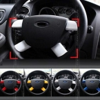 Пригодный для 2005 - 2011 форд фокус MK2 хром руль вставить знак отделка акцент панели евро аксессуары