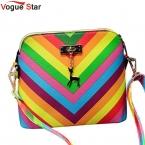 Мода Звезда  Радуга shell сумка летний пляж Известный бренд мода PU кожа женщин сумки заклепки женская сумка YK40-987