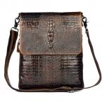 Первый слой коровьей кожи 100% натуральная кожаная сумка для мужчин крокодил стиль мужские деловые Messenge мешок планшет PC сумочка