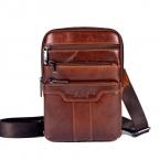Известный бренд золото коралловый из натуральной кожи для мужчин сумки на ремне мужской груди пакет человек сумочка кроссбоди сумки