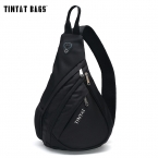 TINYAT Мужчин Функциональные многослойных Мешок Прохладно Случайный Грудь Чемоданчик Морден Вне Большой Емкости сумка Пакет T509 Черный