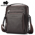 Бизон Denim людей Неподдельной Кожи iPad Tabelt Сумка Коускин Сумка дизайнер сумки высокого качества мужчины сумка почтальона сумочки
