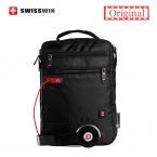 Swisswin сумка маленькая сумка для таблеток и документы мужская черная сумка 11-inch кроссбоди сумки для студентов