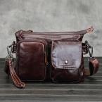 Из натуральной кожи небольшая сумки для мужчин кроссбоди сумки на ремне мужской коровьей сумки