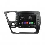 8 '' андроид 4.4 DVD Gps навигации система для  Honda Civic салон с емкостным экраном