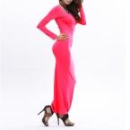 горячая распродажа женщин пят платье сексуальные ну вечеринку мода с длинным рукавом Bodycon платья повязки Vestidos Femininos Большой размер S-XL