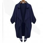 Zanzea Большой размер пальто  осень зима женщины пальто шифон с длинным рукавом открыть стежка кардиган Casaco Feminino свободную рубашку