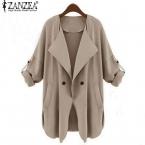 Zanzea  осень весна женщины свободного покроя широкий пальто v-образным вырезом сплошной верхняя одежда жакет кардиган Большой размер S-XXL
