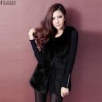 Осень зима  женщин мода теплый искусственного меха жилет без рукавов куртка свободного покроя теплое пальто жилет Большой размер верхняя одежда