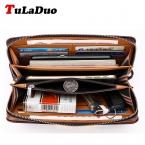 Tuladuo бренд сумка мужчин клатчи Monederos Carteras Mujer роскошный мужской кожаный кошелек клатч кошельки удобный сумки человек кошельки