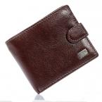 Мужские браун-кофе мягкий личи полоска настоящее натуральная кожа двойные клатч монет чехол ID кредитных карт карман на молнии бумажник кошелек