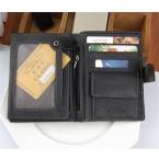 Мужские кошельки , модный известный бренд 100% натуральная кожа, вместительные кошельки, мужские бумажники с отделениями для карт пакет паспорта