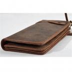 Элитная мужчины 100% натуральная кожа бумажник, кошельки долго старинные мужские бумажник кожаный подлинный бумажник человек с монеты в кармане