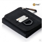 Бесплатная доставка trifold мужчины мужчины бумажник случайный бумажник кошелек спорт бумажник колледжа средней школы студент Нейлон бумажник с портмоне