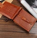 Дизайнерский бренд натуральная кожа мужчины кошельки с кармана монету короткие мужской аллигатор бумажники cudzan человек