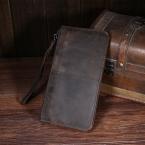 Новые Люди кошельки Монета Карман на молнии мода долго Дизайн мужской кошелек из натуральной Кожи Бумажник сцепления сумку кошелек маленькая рука мешок
