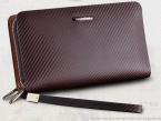 Портмоне  мода из натуральной кожи сумка сумки двойная молния мужчины клатчи бренд сумочке Carteira Masculina